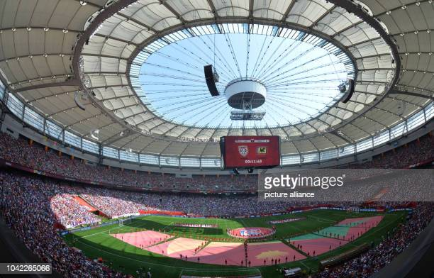 The BC Place Stadium prior to the FIFA Women's World Cup 2015 final soccer match between USA and Japan at the BC Place Stadium in Vancouver, Canada,...