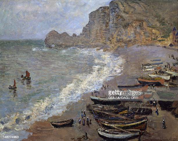 The beach and the port of Armont by Claude Monet Paris Musée D'Orsay