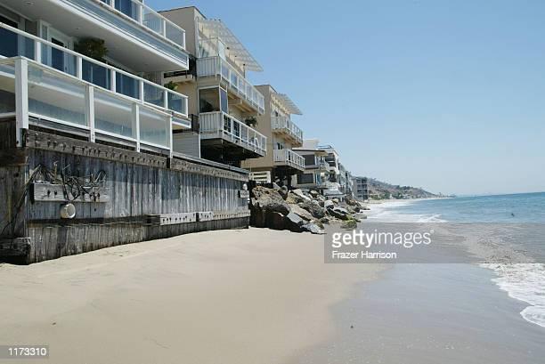 The beach area near the home of Producer David Geffen is shown July 23 2002 in Malibu California Producer David Geffen owns a beach front property in...