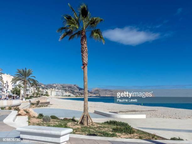 the beach at altea, costa del sol, spain. - altea stock photos and pictures