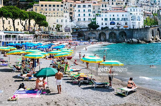 La playa, en Amalfi
