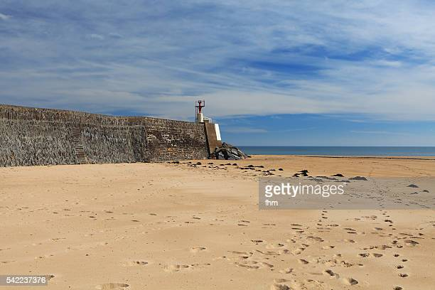 The beach at Barneville-Carteret, Normandy/ France