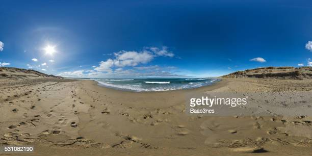 the beach at bore, klepp, norway - 全天周パノラマ ストックフォトと画像
