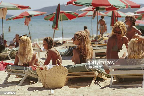 The beach at SaintTropez on the French Riviera August 1971