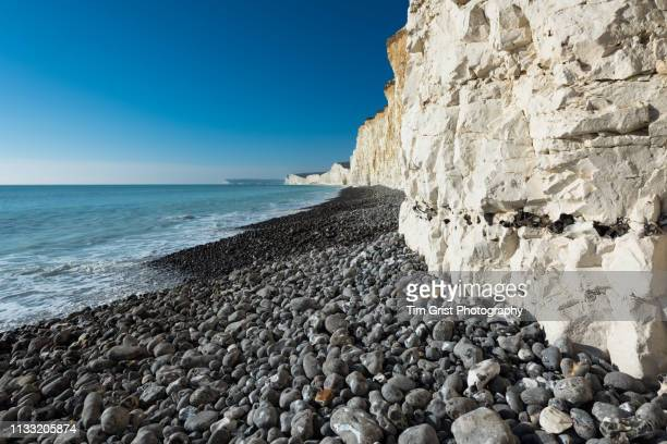 The Beach at the Seven Sisters Chalk Cliffs Showing a Band of Flint.