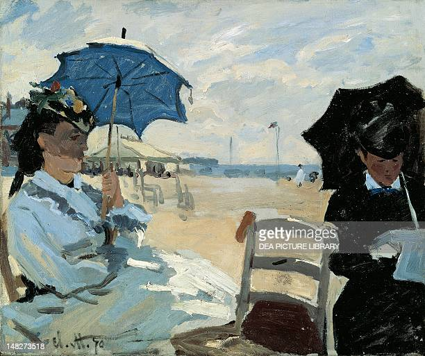 The Beach at Trouville by Claude Monet . ; London, National Gallery.