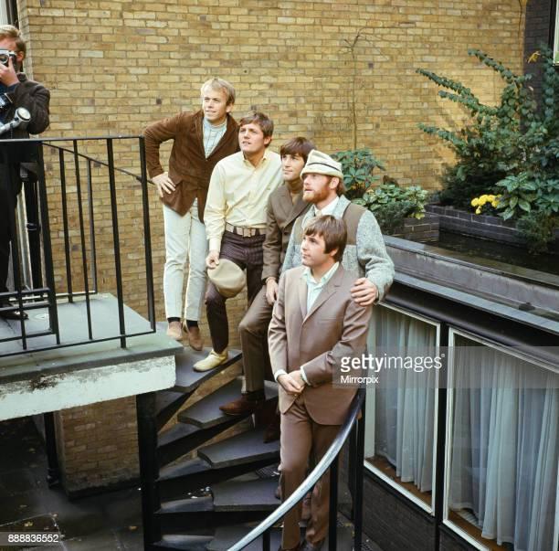 The Beach Boys. Al Jardine, Bruce Johnston, Dennis Wilson, Mike Love and Carl Wilson, 7th November 1966.