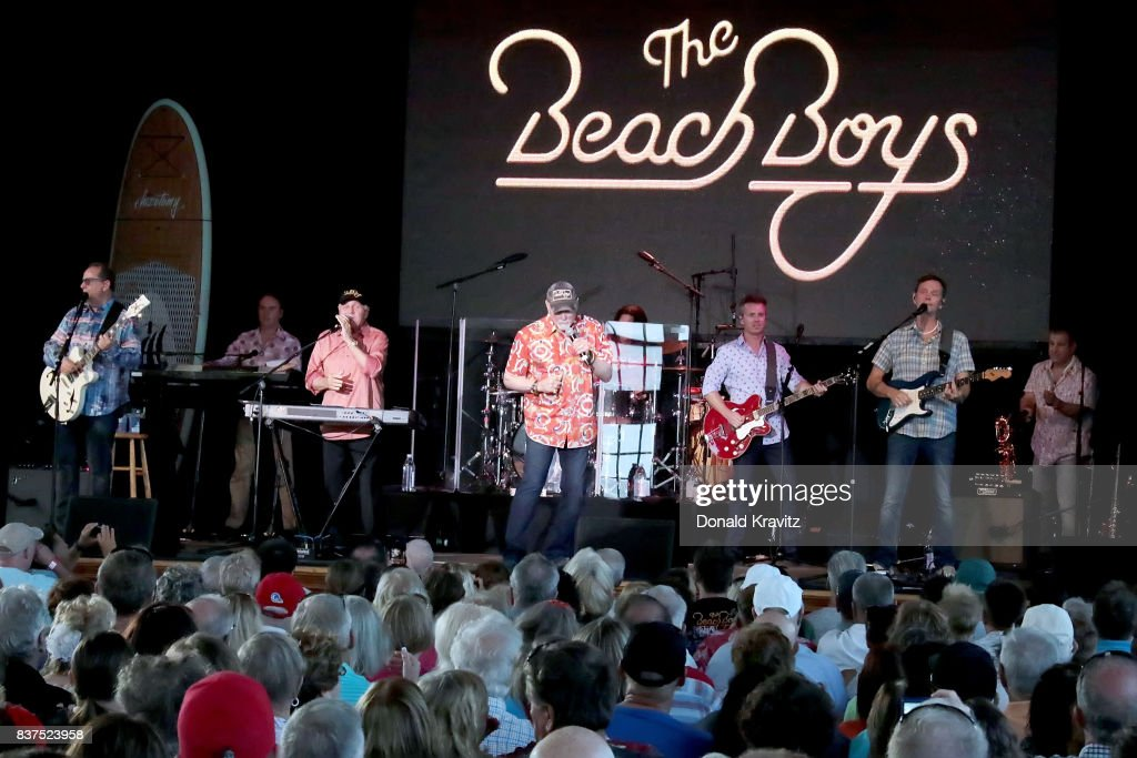 The Beach Boys band perform at The Music Pier on August 22, 2017 in Ocean City, New Jersey.