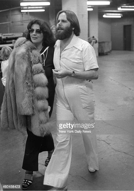 The Beach Boys in Concert at Madison Square Garden Carl Wilson leaves with his wife Annie after the conclusion of Garden Party