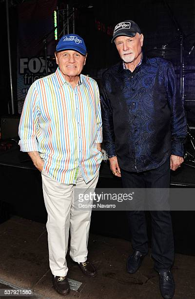 The Beach Boys members Bruce Johnston and Mike Love attend the 'FOX Friends' All American Concert Series outside of FOX Studios on June 3 2016 in New...