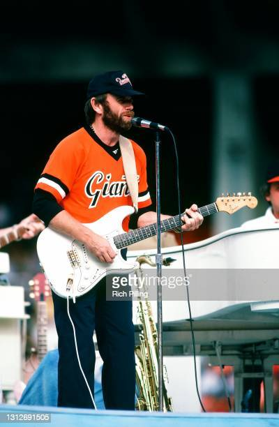 The Beach Boys perform at Candlestick Park on September 18, 1982 on San Francisco, California after the San Diego Padres and San Francisco Giants...