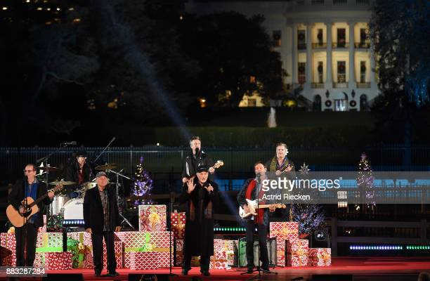 The Beach Boys perform during the 95th annual National Christmas Tree Lighting held by the National Park Service at the White House Ellipse in...