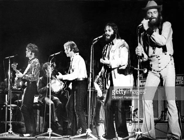 The Beach boys perform live on stage in Amsterdam Netherlands on December 18 1970 LR Bruce Johnston Al Jardine Carl Wilson and Mike Love