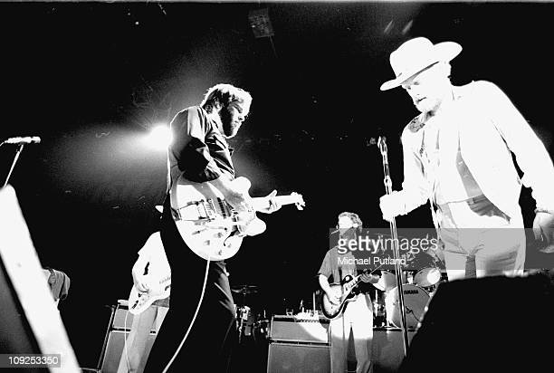 The Beach Boys perform on stage in Oslo, Norway Carl Wilson, Mike Love.