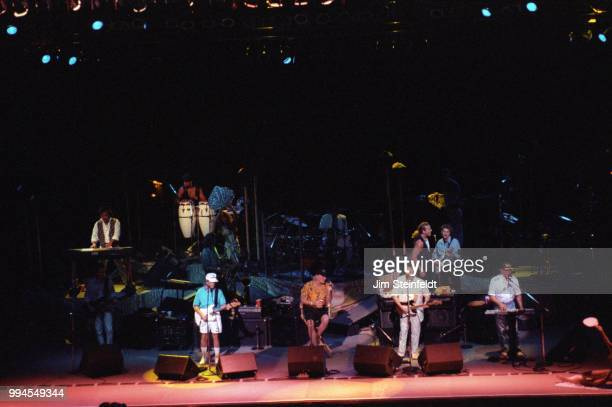 The Beach Boys perform on the Summer In Paradise Tour at the Minnesota State Fair in St. Paul, Minnesota on September 6, 1992.