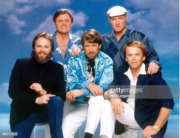 The Beach Boys Pose for a portrait session on May 1, 1987 in Los Angeles, California.