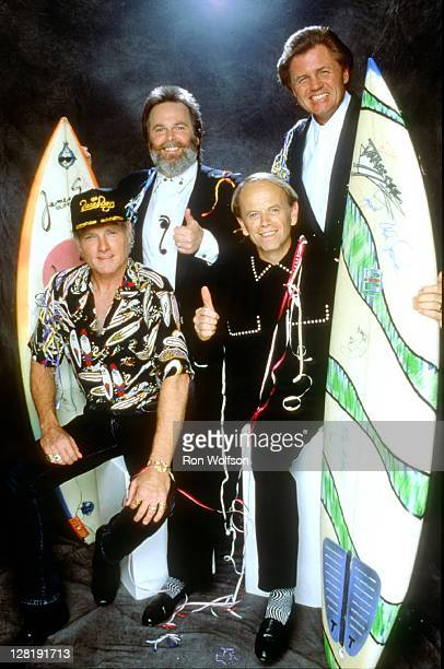 The Beach Boys pose for an exclusive photo session during the TV taping of Dick Clark's New Year's Rockin' Eve on November 7, 1990 at Universal City...