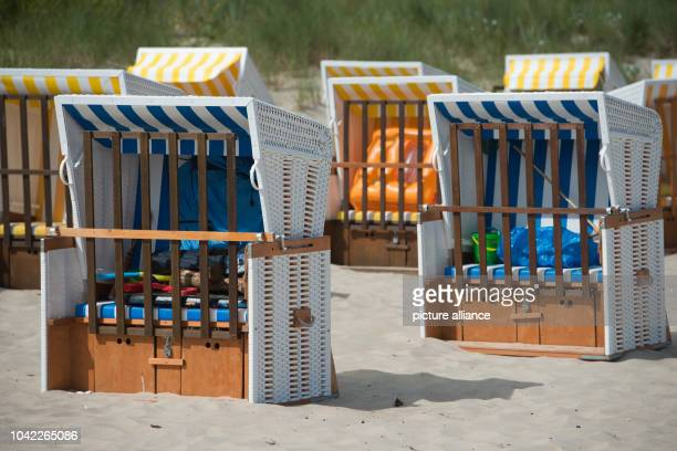 The beach chairs and beaches are unusually empty for the summer season at the Baltic Sea on Usedom island in Zinnowitz,Germany, 14 August 2013....