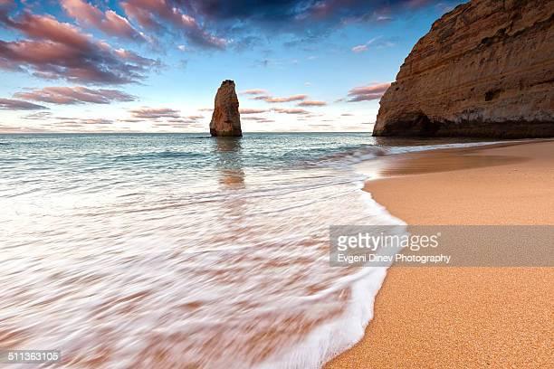 The beach of Carvoeiro