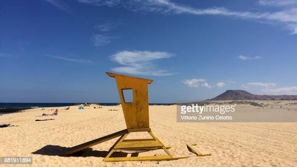 The beach of Corralejo on May 11 2017 in Fuerteventura Spain