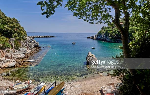 the beach of damouchari - thessaly stock pictures, royalty-free photos & images