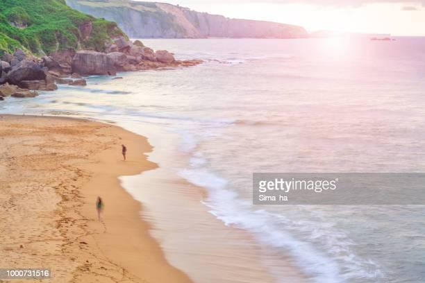 La playa de Nora. Gijón. España