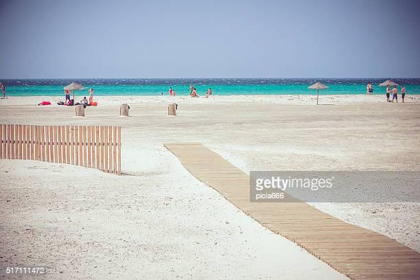 the beach of tarifa, spain - tarifa stock photos and pictures