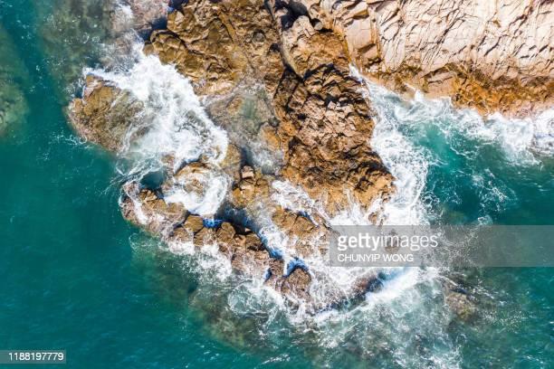 香港グローバルジオパークのビーチビュー - ジオパーク ストックフォトと画像