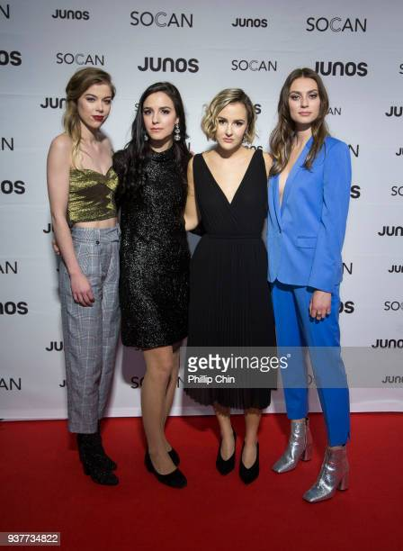 The Beaches walk the red carpet at the Juno Gala Dinner and Awards at the Vancouver Convention Centre on March 24 2018 in Vancouver Canada