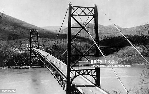 The Bear Mountain Bridge was once the only highway crossing across the Hudson River south of Albany This bridge is open to traffic 24 hours a day