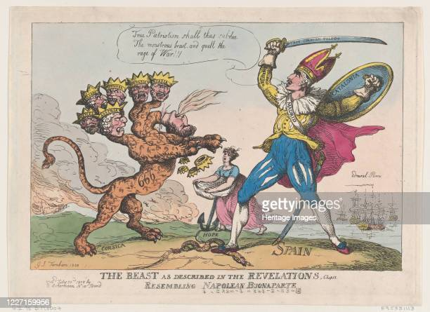 The Beast As Described In The Revelations Chap 13 Resembling Napoleon Buonaparte July 22 1808 Artist Thomas Rowlandson