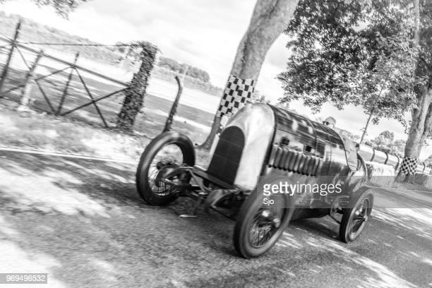 """fiat s76 the beast of turin 1910 speed record car - """"sjoerd van der wal"""" or """"sjo"""" stock pictures, royalty-free photos & images"""