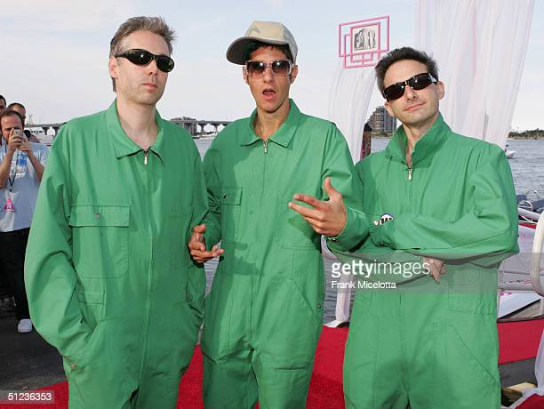The Beastie Boys arrive at the 2004 MTV Video Music Awards at the American Airlines Arena August 29 2004 in Miami Florida