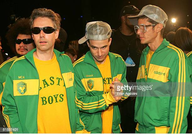 The Beastie Boys arrive at the 2004 MTV Video Music Awards Latin America at the Jackie Gleason Theater October 21 2004 in Miami Beach Florida