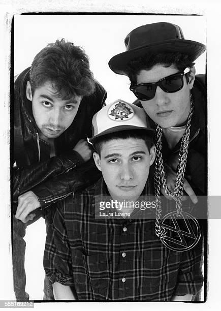 The Beastie Boys L to R: Adam Yauch , Adam Horovitz and Mike Diamond .
