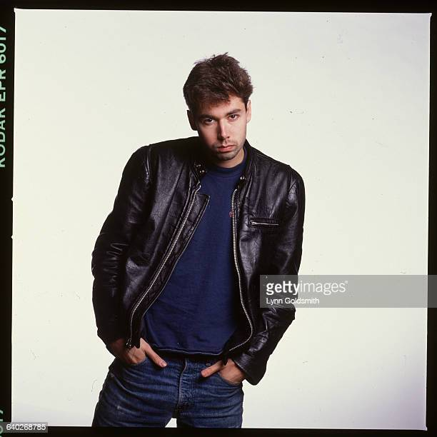 The Beastie Boys' MCA, Adam Yauch, poses in a leather jacket, circa 1980.