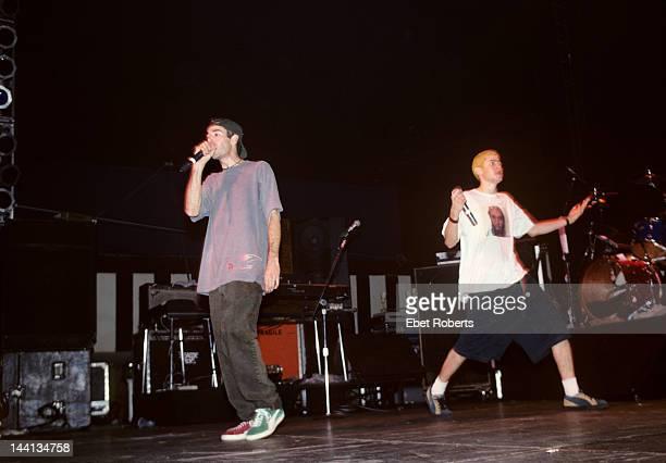 The Beastie Boys perform at Roseland in New York City on November 7 1992 LR Adam Yauch Mike Diamond