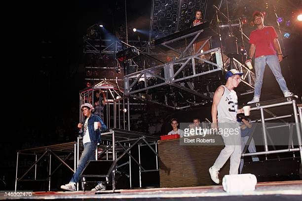 The Beastie Boys perform on stage at Madison Square Garden in New York City on August 17 1987