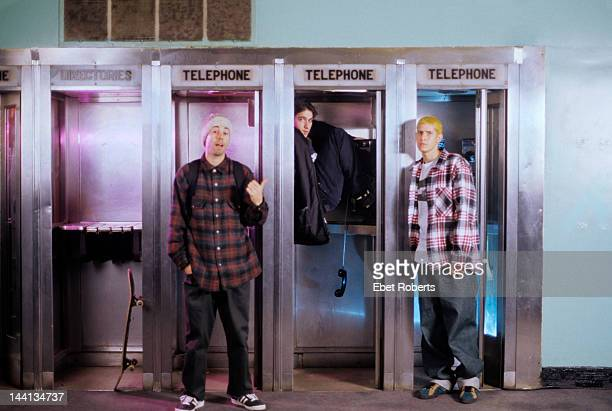 The Beastie Boys portrait at Roseland in New York City on November 7 1992 Adam Yauch Adam Horvitz Mike Diamond
