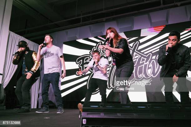 The Beatbox Collective performs onstage during WeWork Celebrates the New York Creator Awards at Skylight Clarkson Sq on November 16 2017 in New York...