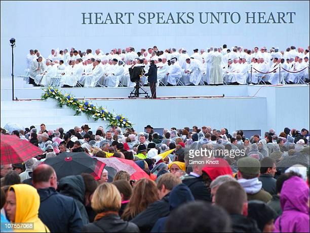 The Beatification of John Henry Newman by Pope Benedict XVI. 19 Sept. 2010, Cofton Park, Birmingham , UK.