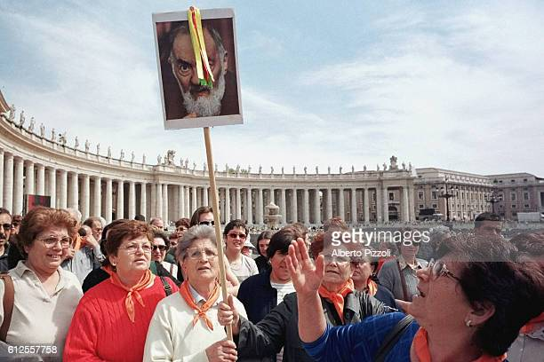The beatification of Padre Pio provoked a huge crowd of pilgrims in Saint Peter's Square.