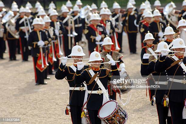 The Beating Retreat on Horse Guards Parade, London as part of the national events to mark the Queen's 80th Birthday and Prince Philip's 85th birthday...