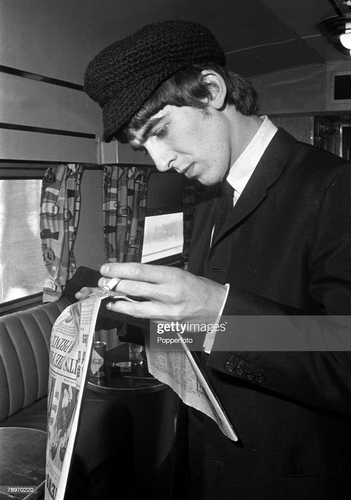 The Beatles 1964 US Tour 11th February George Harrison Of British Pop