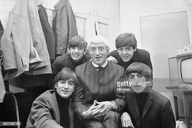 The Beatles and Saville appeared together on the first ever Top Of The Pops programme on New Year's Day 1964 Beatles are left to right back row...