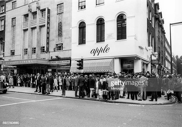 The Beatles Apple Store Baker Street London W1 31st July 1968 For the 2nd day running over £10000 worth of stock was given away as the shop prepares...