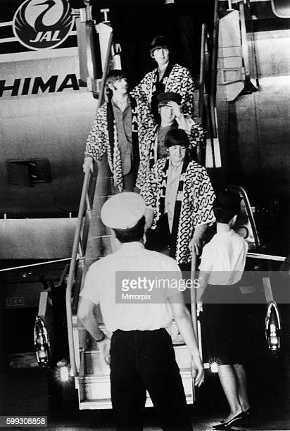 The Beatles arriving in Tokyo 30th June 1966