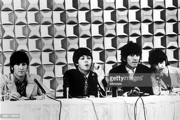 The Beatles at a Tokyo press conference June 1966