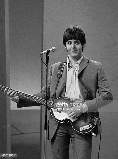 The Beatles at rehearsal for their final performance on THE ED SULLIVAN SHOW. Image dated August 14, 1965. Shown is Paul McCartney.