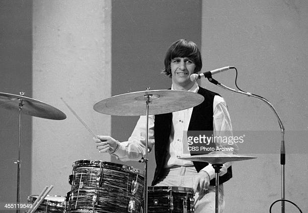 The Beatles at rehearsal for their final performance on THE ED SULLIVAN SHOW. Image dated August 14, 1965. Shown is Ringo Starr.